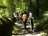 Randonnee equestre pour enfant