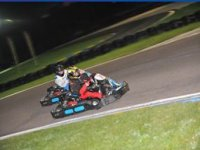 Course de kart nocturne