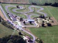 Vue aérienne du circuit kart