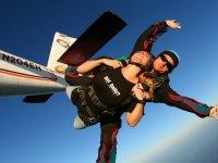 Parachutisme proche du Mont Blanc