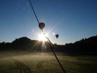 Decollage des montgolfieres a Beaune