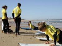 Premier cours de surf