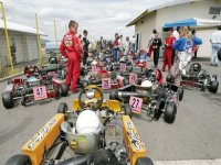 En attendant la compétition de karting