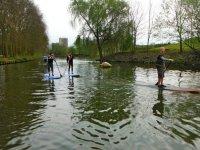 Sortie en paddle surf sur les voies d eau