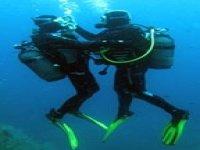A deux sous l'eau
