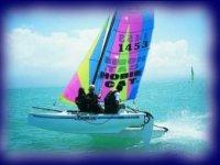 catamaran sur le lac d Hourtin