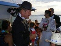 mariage sur un bateau