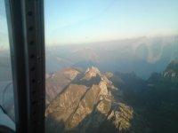 au loin, les Alpes Valaisannes