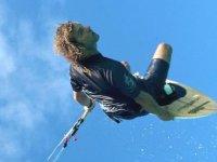 Kite surfeur en l'air