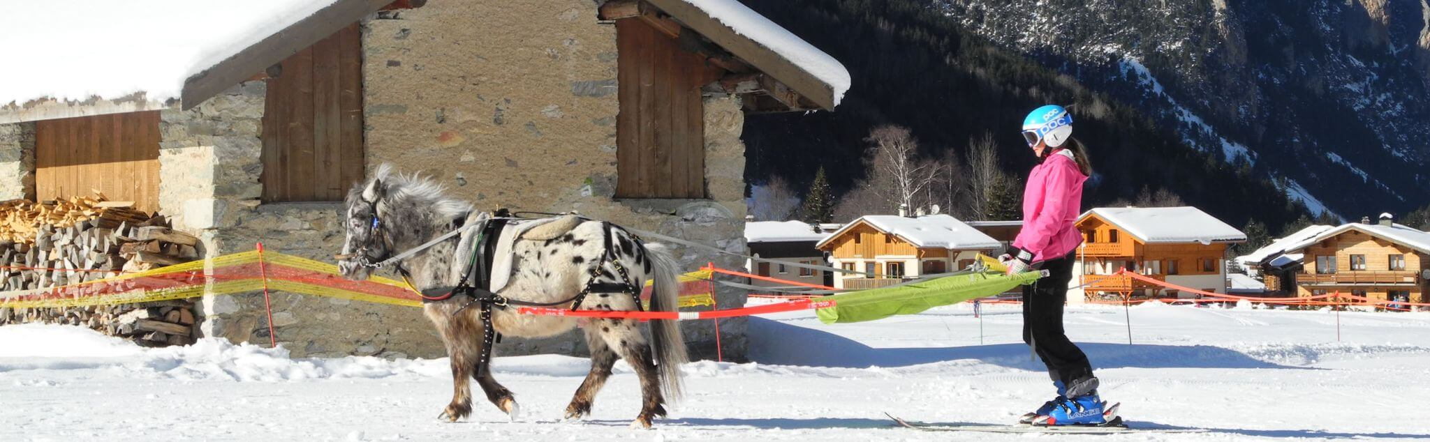 Ski Joëring dans Haute-Savoie