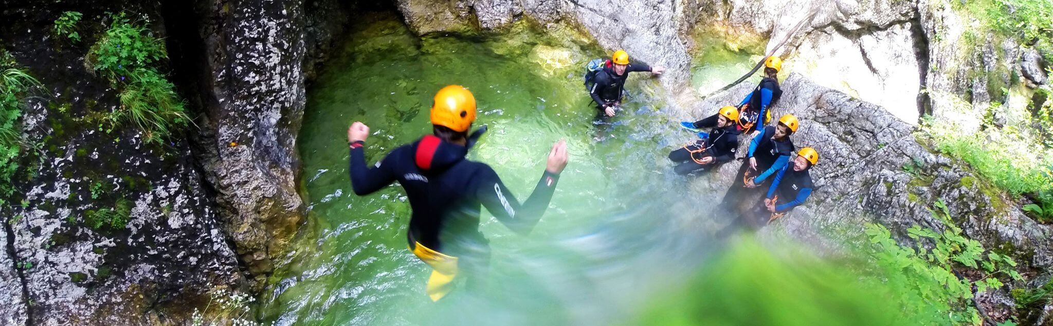 Canyoning dans Les Thuiles