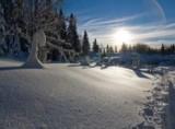 Une balade � ski sur le domaine de la Vattay