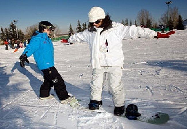 La position en snowboard