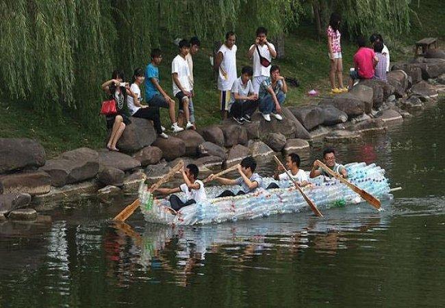 Canoe bouteilles