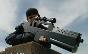Pistolet laser énorme