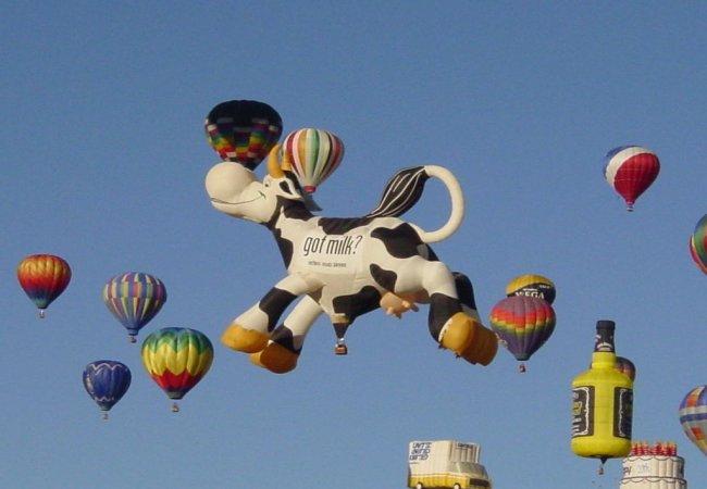 Montgolfière en forme de vache