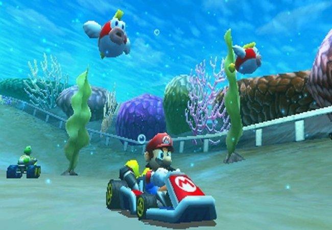 Mario kart sous l'eau