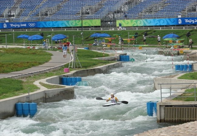 Kayak en rivière artificielle