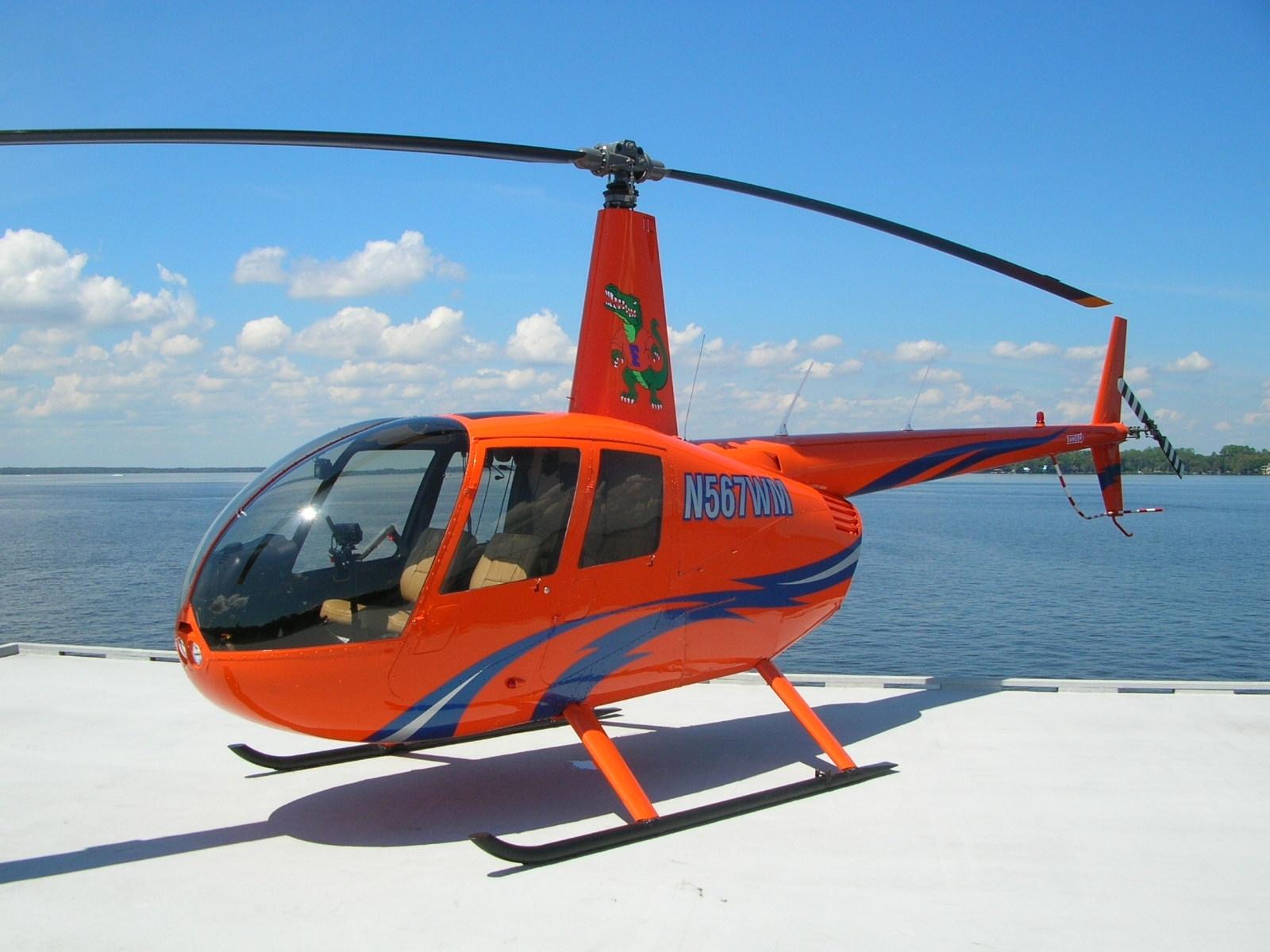Hélicoptère orange